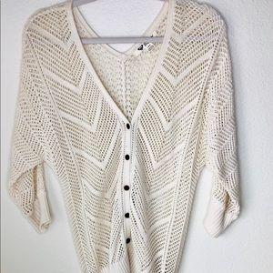 Roxy Cardigan Sweater. Size S.